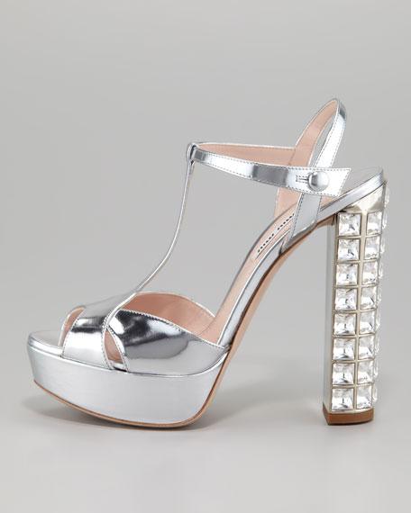 Jeweled Heel Sandal