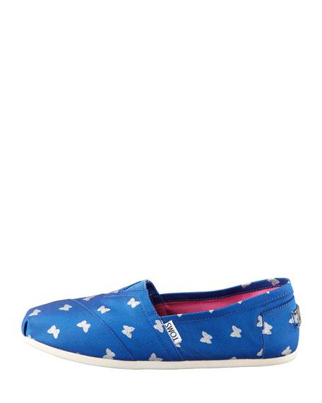 Butterfly Slip-On, Cobalt Blue