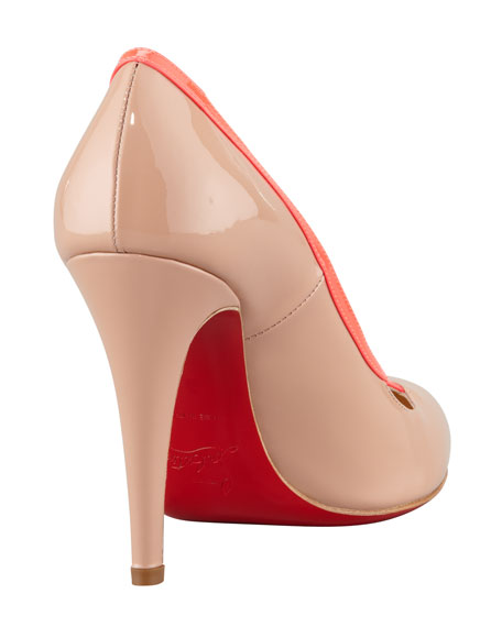 Cross Ronda Fluorescent Patent Red-Sole Pump