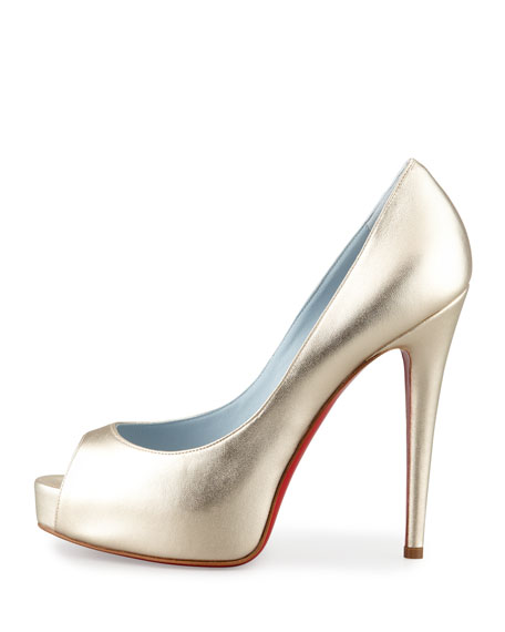 Vendome Metallic Platform Red Sole Pump
