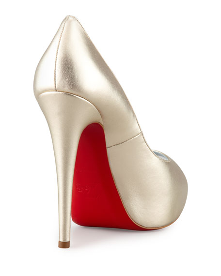 bc18c24d0fa Vendome Metallic Platform Red Sole Pump