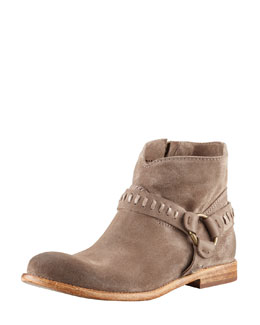 Alberto Fermani Sofia Suede Harness Boot, Sepia