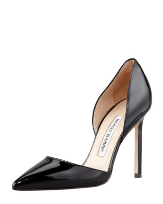 Sale alerts for Manolo Blahnik Tayler Patent Pointed d'Orsay, Black - Covvet
