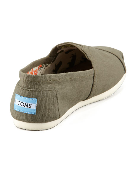 Canvas Slip-On, Olive