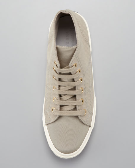 Linen Lace-Up Sneaker, Natural