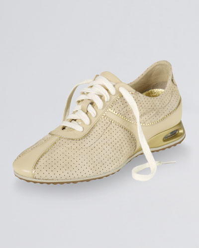 Cole Haan Air Bria Perforated Oxford Sneaker, Sandshell Suede