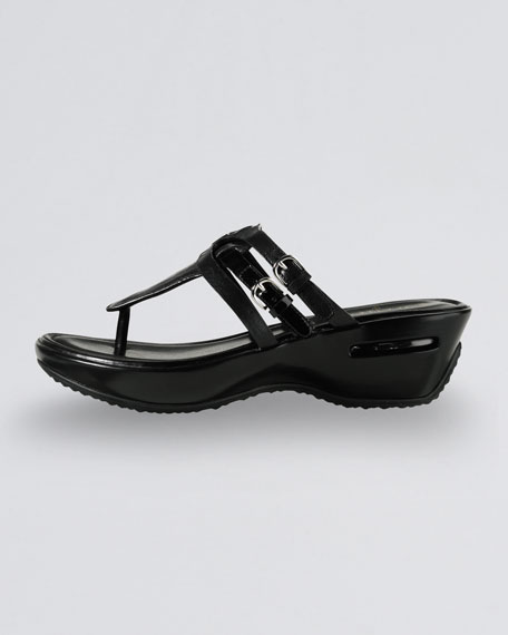 Melissa Buckled Thong Sandal, Black