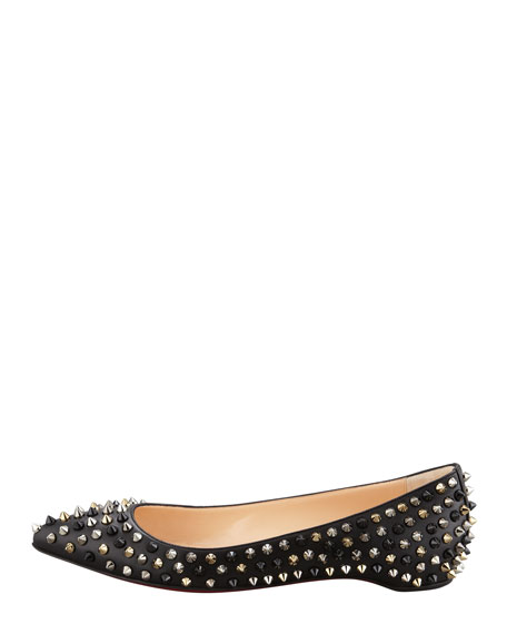 christian louboutin pigalle spiked flats