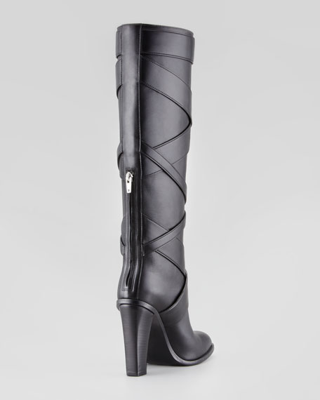 Wraparound Wood-Heel Tall Boot