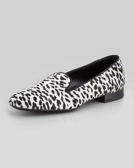 Corda Snow Leopard Calf Hair Smoking Slipper