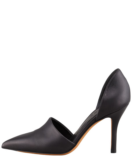 Claire Two-Piece Leather Pump, Black