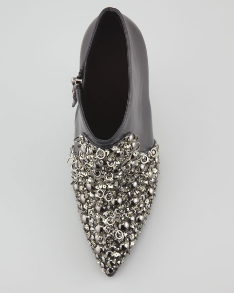 Beacon Jeweled Leather Bootie