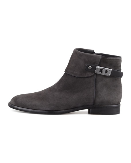 Kalypso Suede Ankle Bootie, Gray