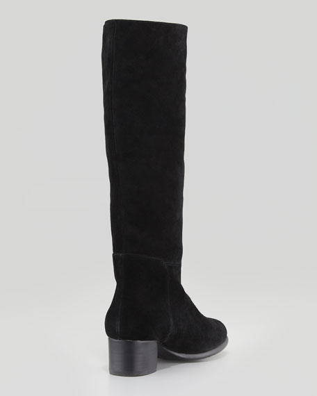 Baird Suede Knee Boot, Black