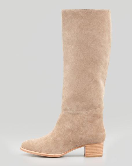 Baird Suede Knee Boot, Cement