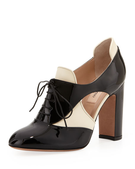 Lace-Up Cutout Spectator Pump/Bootie
