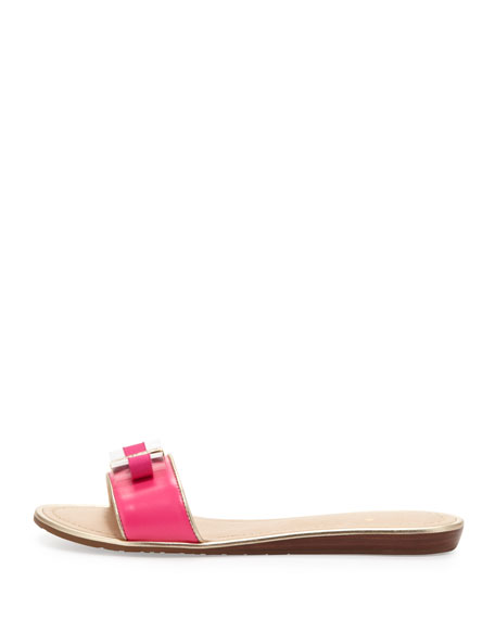 alicia bow slide sandal, pink