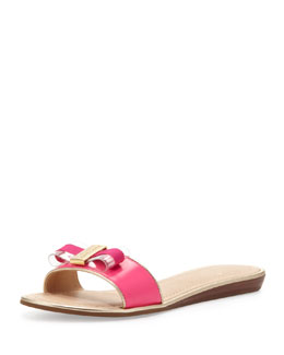 kate spade new york alicia bow slide sandal, pink