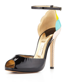 kate spade new york ice cream cone heel sandal, black