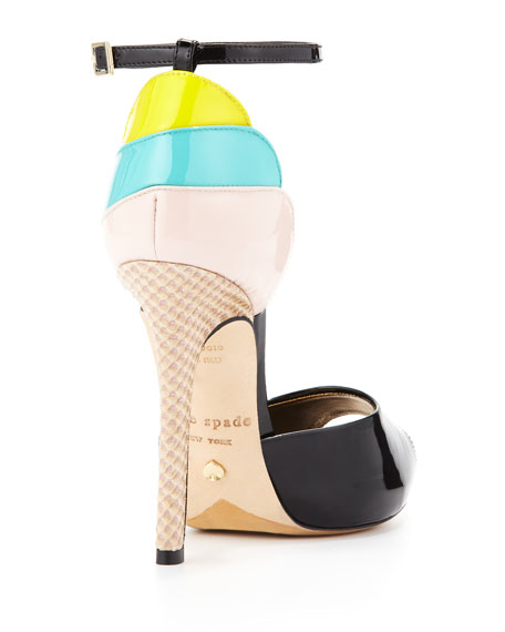 ice cream cone heel sandal, black