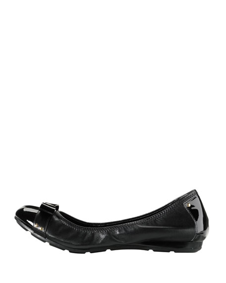 Air Monica Leather Ballet Flat, Black