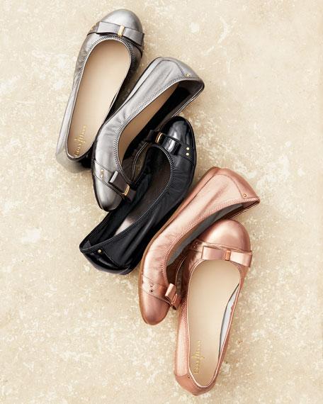 Air Monica Leather Ballet Flat, Black