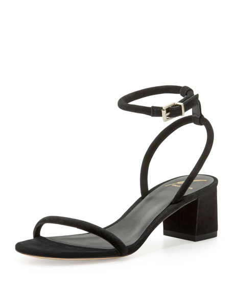 Kelston Block-Heel Ankle-Wrap Sandal