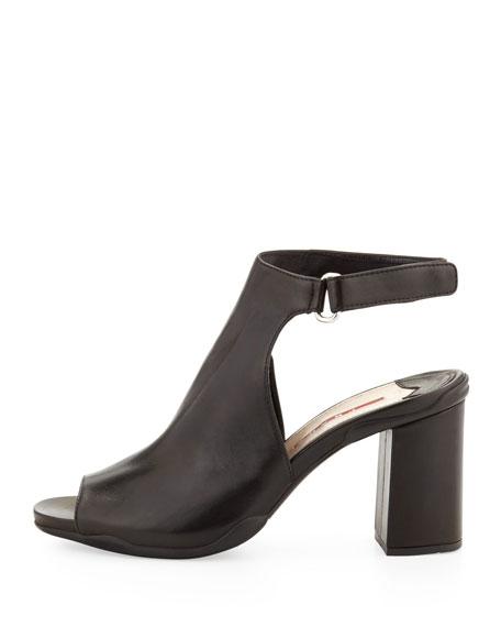 Nappa Sport Ankle-Wrap Cutout Sandal