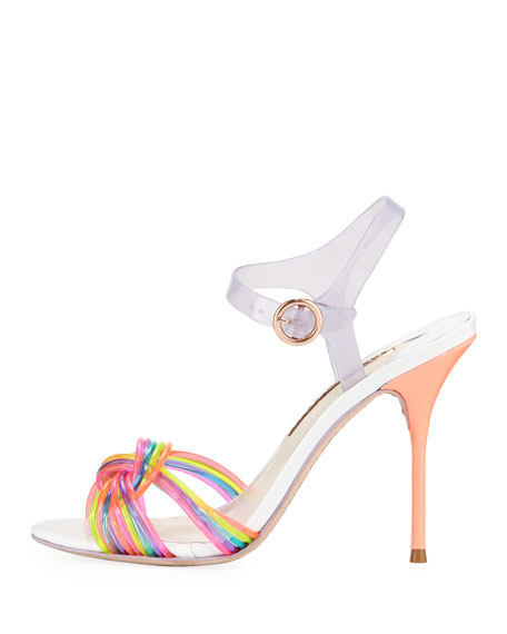 Coralie Ankle-Wrap Jelly Sandal, Multi