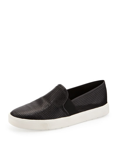Blair Perforated Slip-On Sneaker, Black