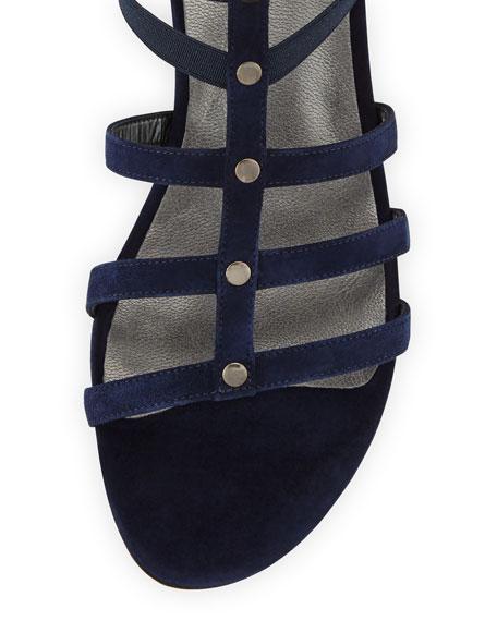 Caesar Suede Gladiator Sandal, Nice Blue