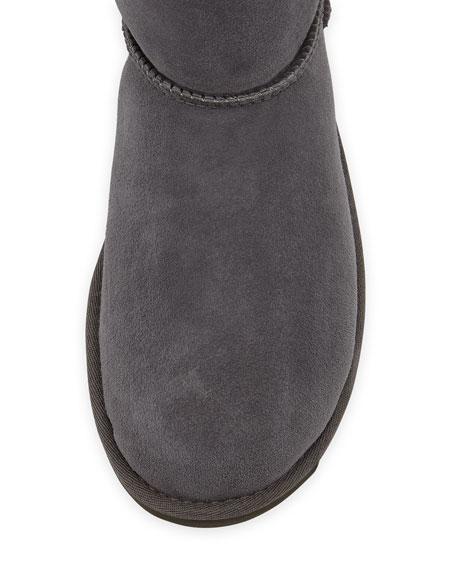 Bailey Bow-Back Short Boot, Gray