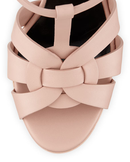 Tribute Leather Platform Sandal, Pale Rose