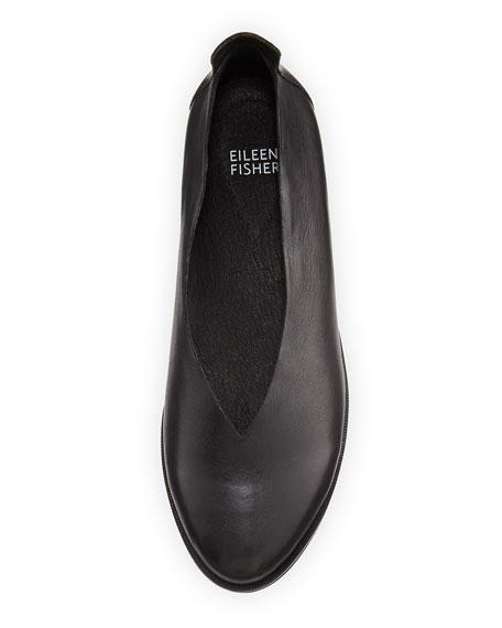 Eileen Fisher Canoe 2 Leather Slip-On, Black