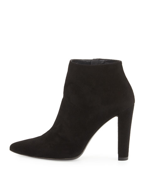 HiTimes Leather Bootie, Black