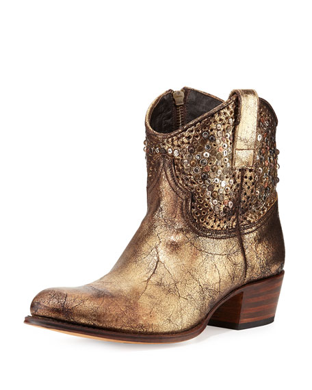 Deborah Studded Short Western Boot
