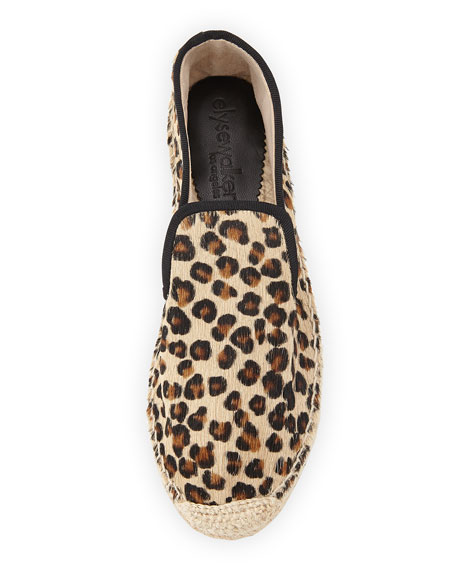 Dee Leopard-Print Espadrille Flat