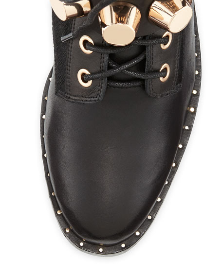 Ivy Kirzhner Bowery Studded Leather Moto Boot, Black