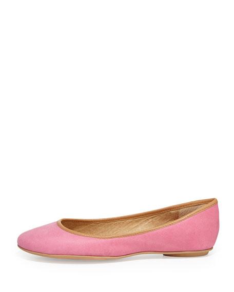 Instinct Leather Ballet Flat, Pink