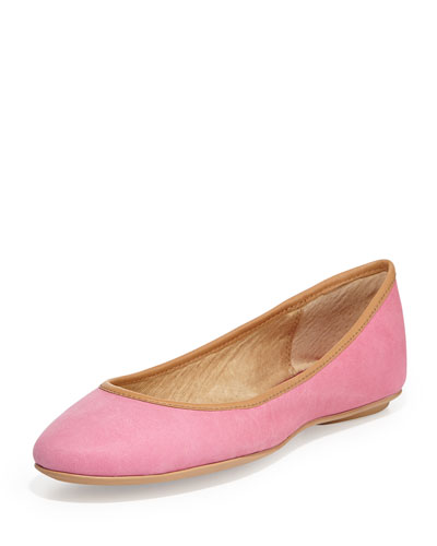 Instinct Leather Ballet Flat, Pink