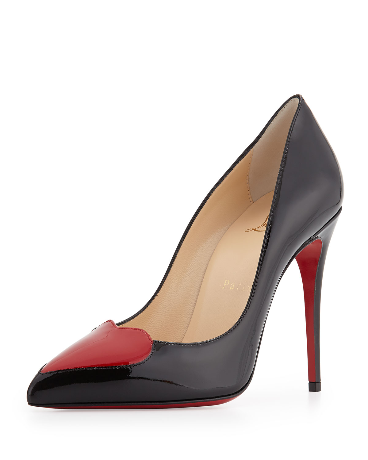 58226e77796 Christian Louboutin Cora Patent Heart Red Sole Pump