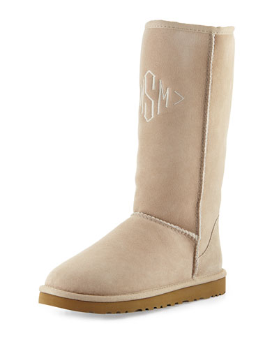 UGG Australia Monogrammed Classic Tall Boot, Sand