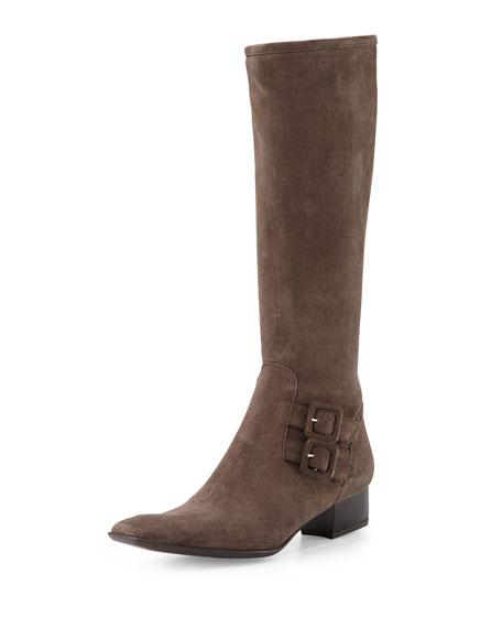 Sesto Meucci Delice Suede Knee Boot, Taupe