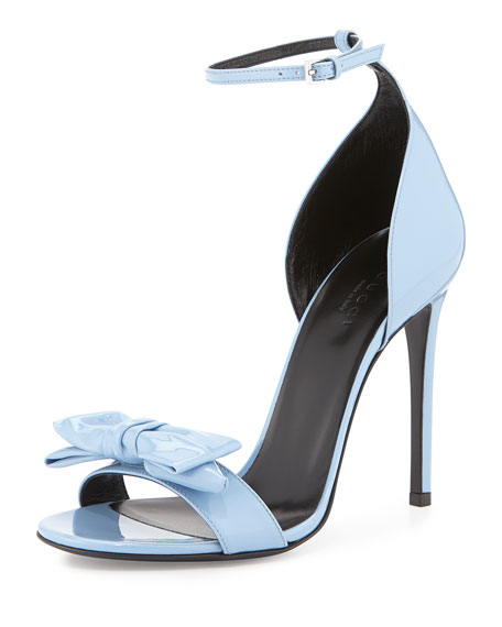 Clodine Patent Leather Sandal, Mineral Blue
