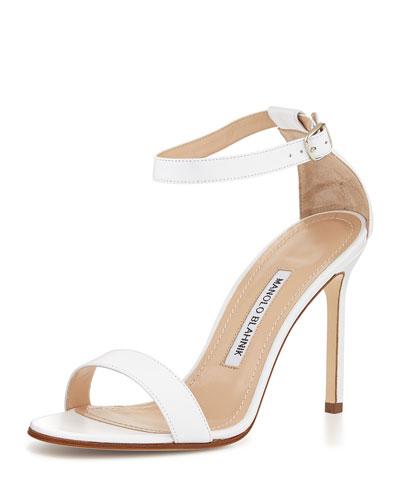 827ce8d47d9 Manolo Blahnik Chaos Leather Ankle-Strap Sandal