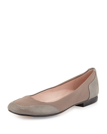 Taryn Rose Barrington Stretch Ballerina Flat, Gray