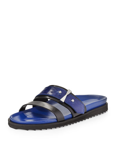 Double-Band Flat Slide Sandal