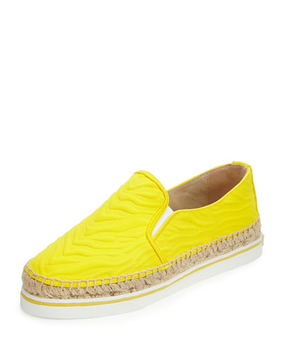 Dawn Zebra-Embossed Canvas Espadrille
