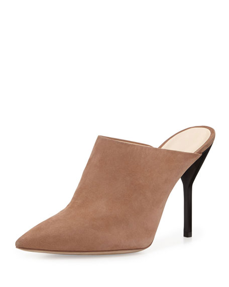 3.1 Phillip Lim Martini Suede High Heel Mule,
