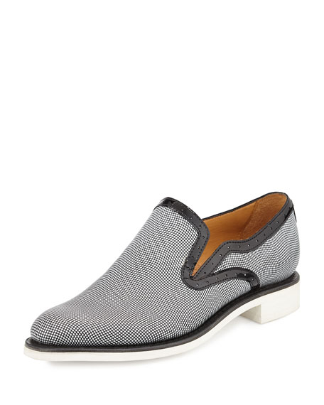 The Office of Angela Scott Stamped Leather Loafer,